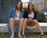 Jeunes salopes sans culotte